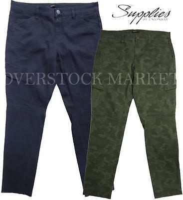 NEW WOMENS SUPPLIES BY UNIONBAY SKINNY FAUX CARGO PANT JEAN