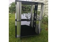 """Black Glass TV Stand - Suitable for up 32"""" TV's"""