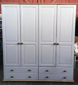 Solid Wood Double Wardrobe with drawers