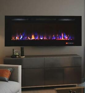 NEW FIREPLACE LED 72 INCH WALL MOUNT HEATER 5000 BTU 50% SAVINGS