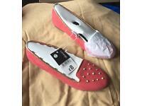 New Pink Studded Slip-on Shoes - Size 3