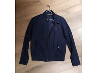Lacoste mens navy blue Harrington jacket size medium