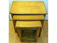 Mid-Century Hard Wood Nest of Tables