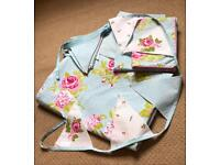 Single Cotton Duvet Set with pillow cases sheet and bunting