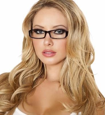 Secretary Librarian Glasses Rectangle Frame School Girl Costume Accessory G103