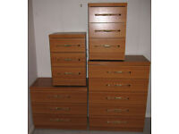 Chest of Drawers (2) and Bedside cabinets (2)