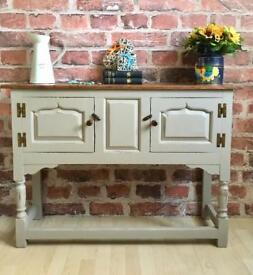 Handmade Original Titchmarsh&Goodwin Oak Hall Cabinet Dresser