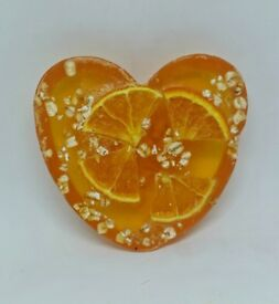 Orange blossom, Heart -Shaped, Oatmeal scrub soap, by Heaven Senses