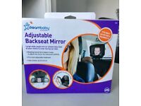 Baby mirror for rear facing car seat