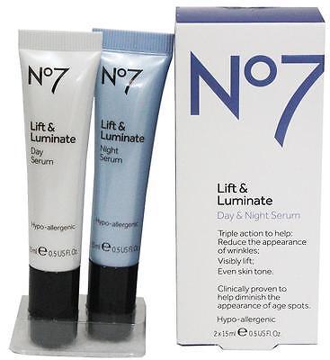 No7 Lift And Luminate - Day And Night Serum 2x15ml
