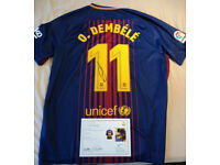 3c03efca56f Barcelona Shirt 17/18 Signed by Ousmane Dembélé + Certificate of  Authenticity