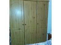 CHEAPER 85.00 WARDROBE 3-DOOR, FREE DELIVER BRADFORD