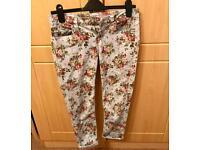 Size 8 crop floral jeans