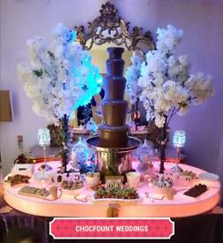 FRUIT DISPLAY WEDDING PALM TREE CHOCOLATE FOUNTAIN HIRE