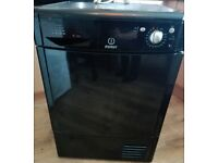 Black Indesit 8kg Condenser tumble dryer/drier in great working order and serviced