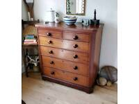 Antique Welsh chest of drawers, bedroom furniture, sideboard,
