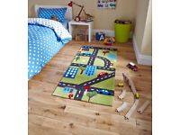 Think Rugs, Road/Car Map Floor Rug. 70 x 140 , Lovely Bright colours NR6 6GB