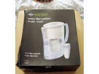 Water Filter Jug with filter , 2 Litres comes with 3 extra spare filters, New still in cellophane