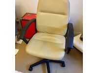 Cream office chair