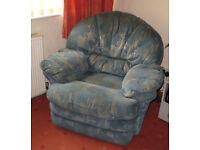 Three Piece Suite - classic style, including reclining armchair