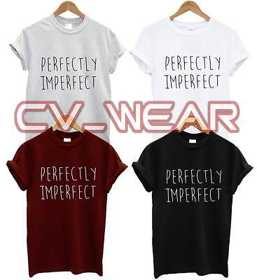 PERFECTLY IMPERFECT T SHIRT SWAG DOPE TEE TUMBLR BLOG HIPSTER FASHION UNISEX