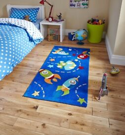 Think Rugs, Children's Space Rockets Rug, Lovely and Bright, NR6 6GB