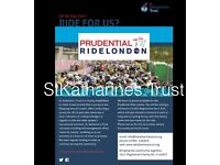 Ride for our charity, Prudential 100 famous cycle event