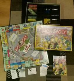 Simpsons monopoly Game set Comp Boxed Parker!!