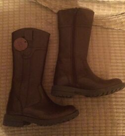 Brand new Brown leather M&S boots Infant size 10