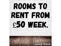 Commercial rooms to rent from £50 a week