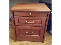 Wooden bedside table / drawers