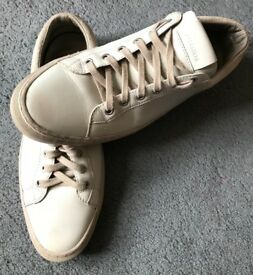 All Saints Mens Leather Trainers, UK9/43 RRP £135