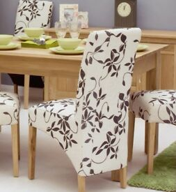 2 - 4 - 6 - 8 Excellent Quality New Baumhaus Oak Upholstered Dining Room Chairs