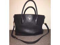 Genuine Prada Black Leather Handbag