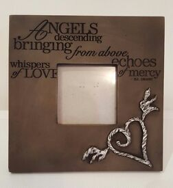 Photo frame - angels descending bring from above echoes of mercy whispers of love