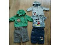 Baby boys Next & Disney Baby sets 0-3 months