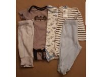 Baby rompers and pants bundle 0 to 6 months