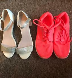 Size 4 trainers and sandals