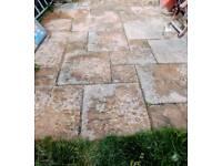 Outdoor medium-large 'solid stone' RARE pavingslabs // floortiles: c18-20m²
