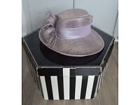 Ladies Pale Lilac / Heather Ispirato Hat, for Weddings / Race Days.