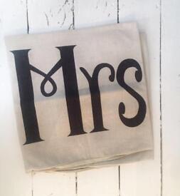 Mr & Mrs cushion covers