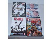 DVD FILM MOVIE BUNDLE KUNG FU HUSTLE,JACKASS 2,SMOKIN ACES EXTRAORDINARY MEASURE