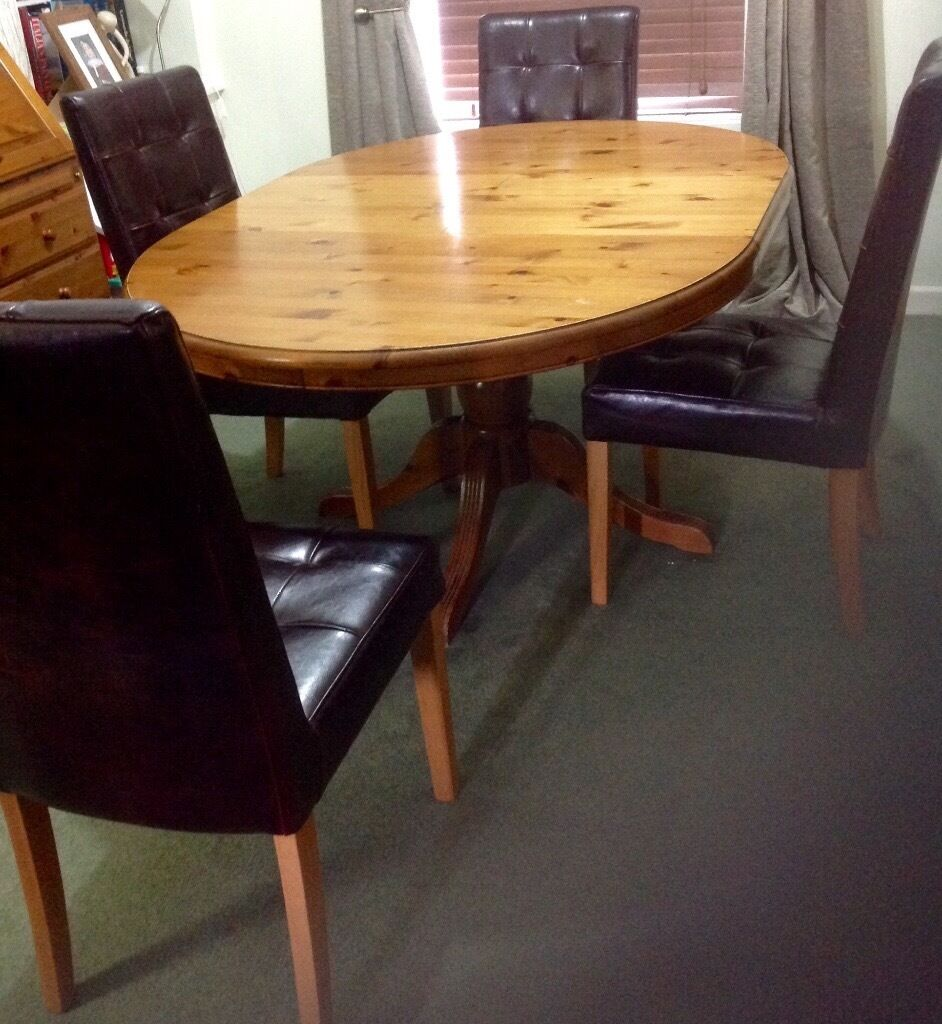 Ducal Pine Dining Table Plus Chairs