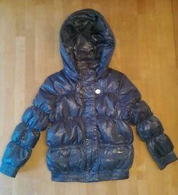 Chloe Designer Blue Bubble Jacket Winter Age 4