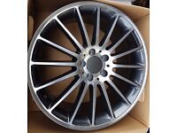 """Mercedes Style Turbine Alloys c63 19"""" staggered wider rear"""