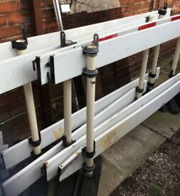 Portable building/safety barriers (x4)