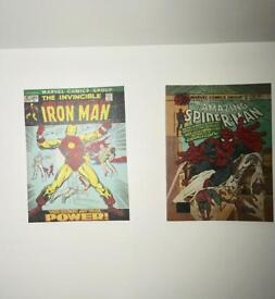2 Marvel Comics canvas wall art pieces