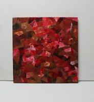 Original Abstract Painting in Reds & Bronze