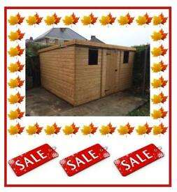 12x6 pent 67900 high quality x16mm tg free delivery and installation all sizes - Garden Sheds Gumtree
