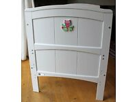 Bonito Bebe - Bacelona white cot bed (0-4years). Have twins? 2 separate cot listings
